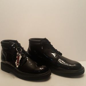 Rocky Mens Chukka Black High Gloss Boots